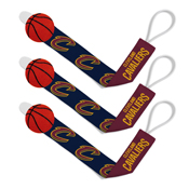 Pacifier Clip (3 Pack) - Cleveland Cavaliers