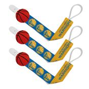Pacifier Clip (3 Pack) - Golden State Warriors