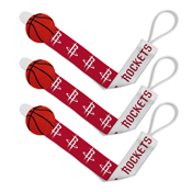Pacifier Clip (3 Pack) - Houston Rockets
