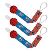Pacifier Clip (3 Pack) - Oklahoma City Thunder
