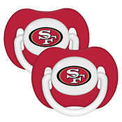Pacifier (2 Pack) - San Francisco 49ers