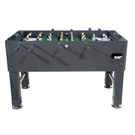Premium Foosball Table in Black with both 1 & 3-Man Goalie