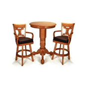 Oak Pedestal Pub Table Set