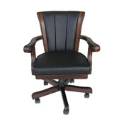 Chair in Dark Walnut w/ Black Leather