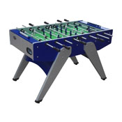 The Florida Outdoor Foosball Table in Blue with both 1 & 3 man Goalie