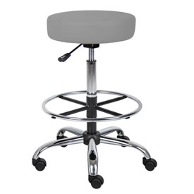 Boss Caressoft Medical/Drafting Stool in Grey