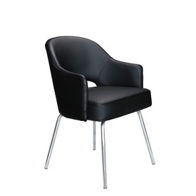 Black CaressoftPlus Guest Chair