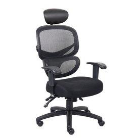 Boss Multi-Function Mesh Task Chair w/Headrest