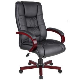 Boss High Back Executive Wood Finished Chairs - Mahogany Finished Wood