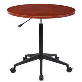 """32"""" Mobile Round Table, Cherry"""
