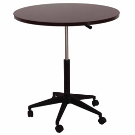 """32"""" Mobile Round Table, Mahogany"""
