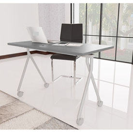 "48"" Folding Table, Driftwood"