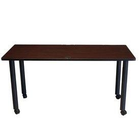 """Boss Training Table 48W X 24""""D Mahogany"""