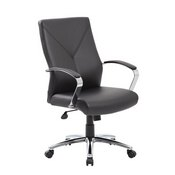 Boss LeatherPlus Executive Chair in Black