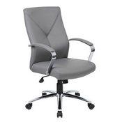 Boss LeatherPlus Executive Chair in Grey