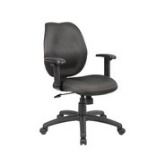 Boss Black Task Chair W/ Adjustable Arms