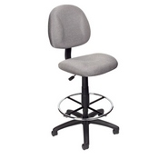 Boss Drafting Stool (B315-Gy) W/Footring