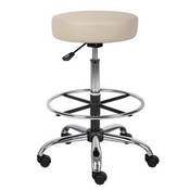 Boss Caressoft Medical/Drafting Stool in Beige