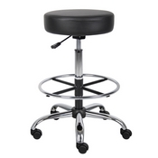 Boss Caressoft Medical/Drafting Stool in Black