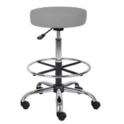 Boss Caressoft Medical/Drafting Stool in Grey
