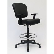 Boss Oversized Drafting Stool, B1681-BK
