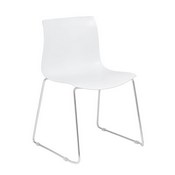 Boss White Guest Chair With Chrome Frame 4 Pcs Pack