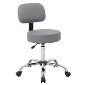 Boss Grey Caressoft Medical Stool W/ Back Cushion
