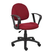 Boss Burgundy Deluxe Posture Chair W/ Loop Arms