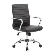 Boss Retro Task Chair with Chrome Fixed Arms