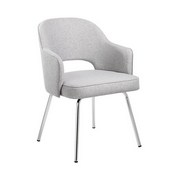 Grey Linen Guest Chair