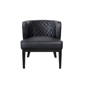 Boss Ava Quilted guest, accent or dining chair - Black