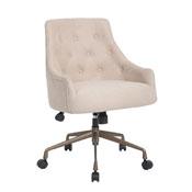 Boss Desk Chair-Beige w/Rustic Bronze Base