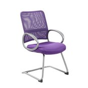 Boss Mesh Back W/ Pewter Finish Guest Chair in Purple