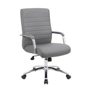 Boss Modern Executive Conference Chair - Ribbed Grey