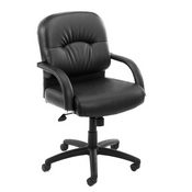 Boss Mid Back Caressoft Chair In Black