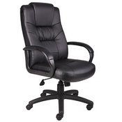 Boss Executive High Back LeatherPlus Chair W/Knee Tilt