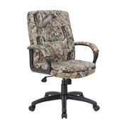 Boss Executive Mid Back Mossy Oak Chair