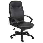 Boss High Back LeatherPlus Chair, B8401