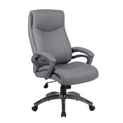 Boss Double Layer Executive Chair in Grey
