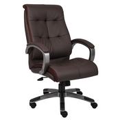 Boss Double Plush High Back Executive Chair - Brown