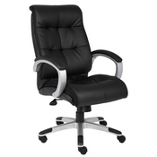 Boss Double Plush High Back Executive Chair - Black
