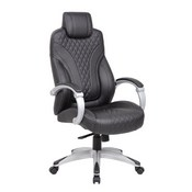 Boss Hinged Arm Executive Chair With Synchro-Tilt in Black