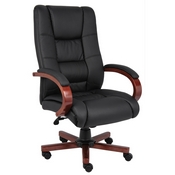 Boss High Back Executive Wood Finished Chairs - Cherry Finished Wood