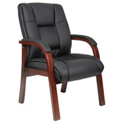 Boss Mid Back Wood Finished guest, accent or dining chair, Cherry