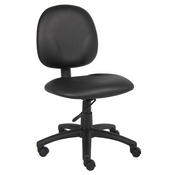 Boss Diamond Task Chair In Black Caressoft