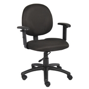 Boss Diamond Task Chair In Black W/ Adjustable Arms