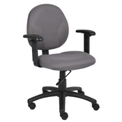 Boss Diamond Task Chair In Grey W/ Adjustable Arms