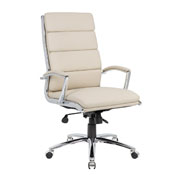 Boss Executive CaressoftPlus Chair with Metal Chrome Finish