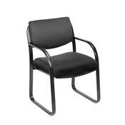 Boss Black Fabric Guest Chair