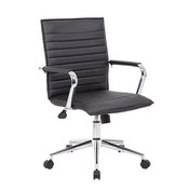 Boss Black Vinyl Hospitality Chair